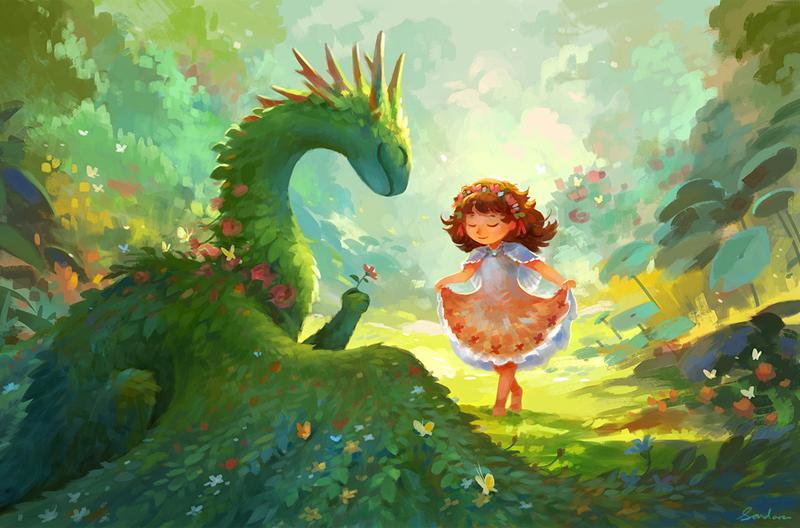 Девочка и дракон